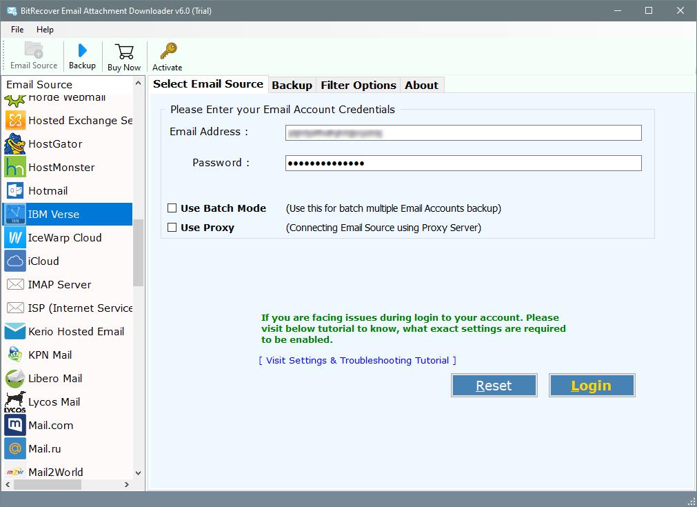 IBM Verse email attachment downloader