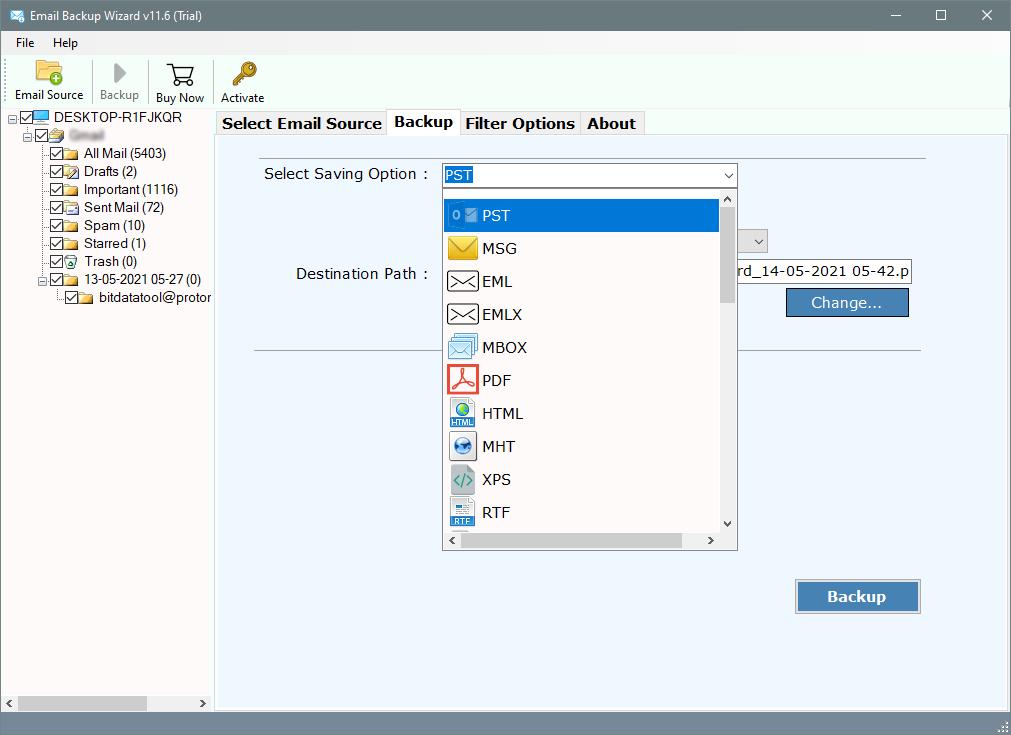 backup videotron emails