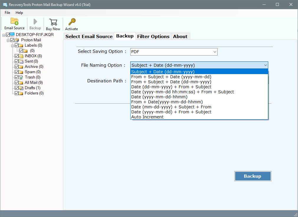 print protonmail emails to pdf file