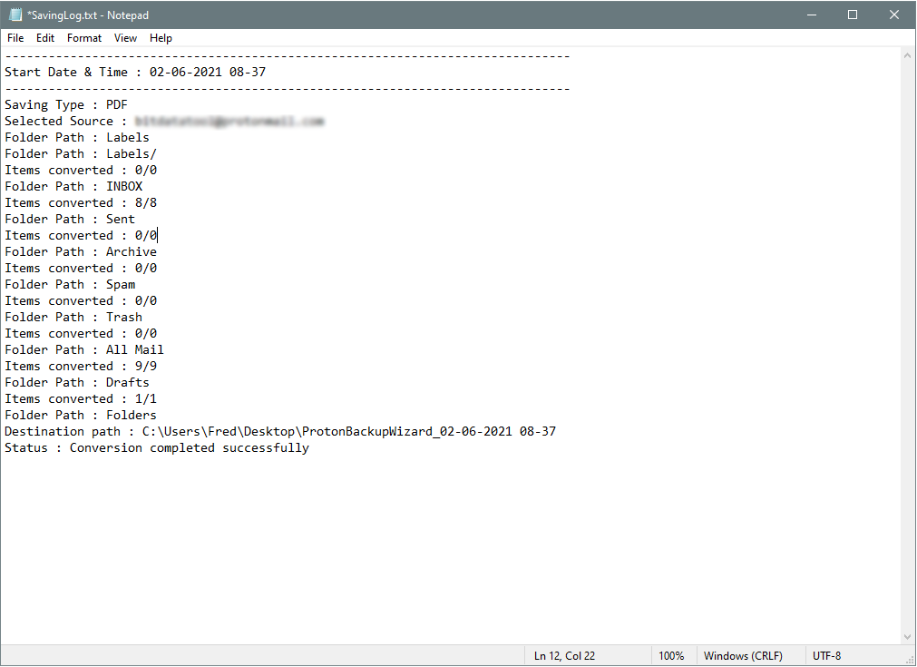 create a savinglog file