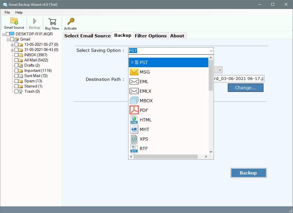backup g suite emails