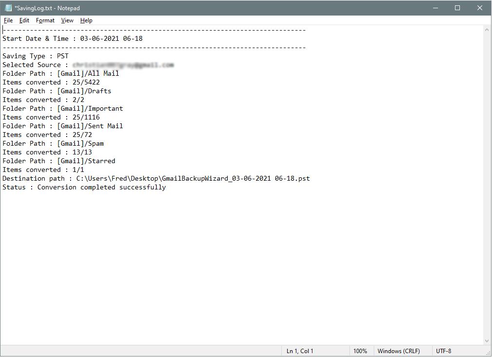 analyze log file