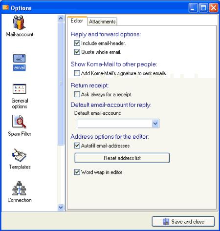 koma mail icon