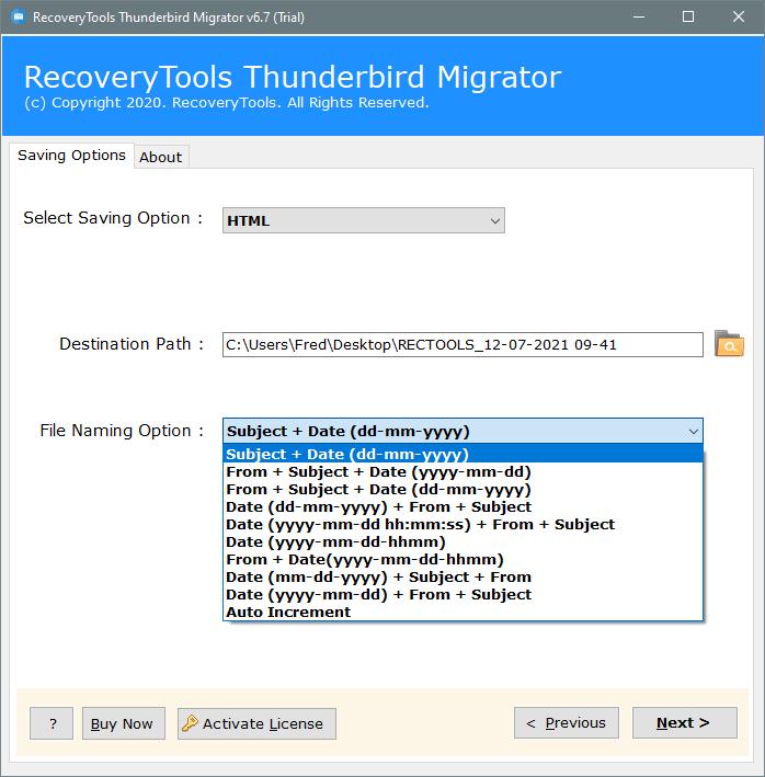setup thunderbird convert to html