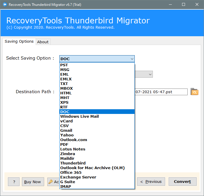 thunderbird to word file