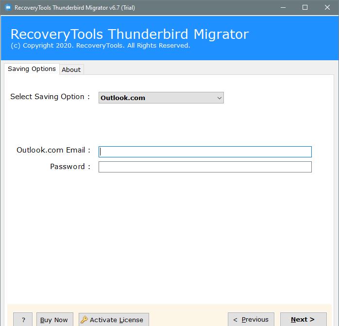 setup thunderbird to outlok.com option