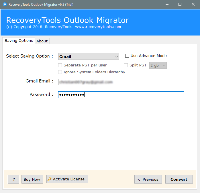 migrate ost to g suite account