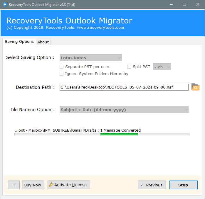 ost to lotus notes migration