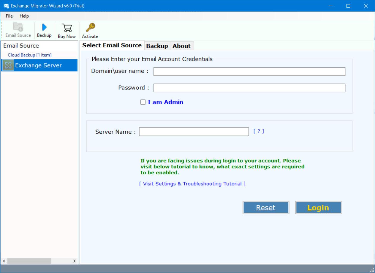 exchange server to icloud