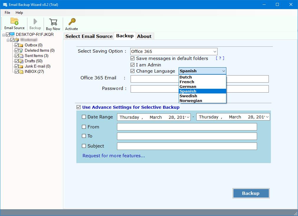 export zimbra webmail email accounts