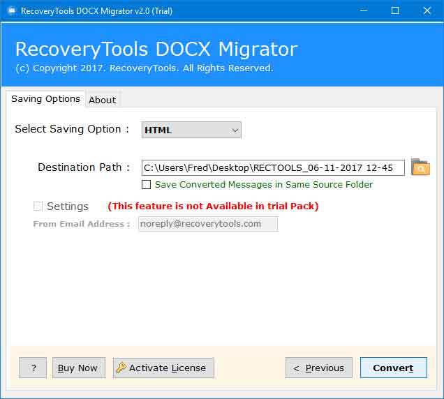 RecoveryTools DOCX to HTML Converter