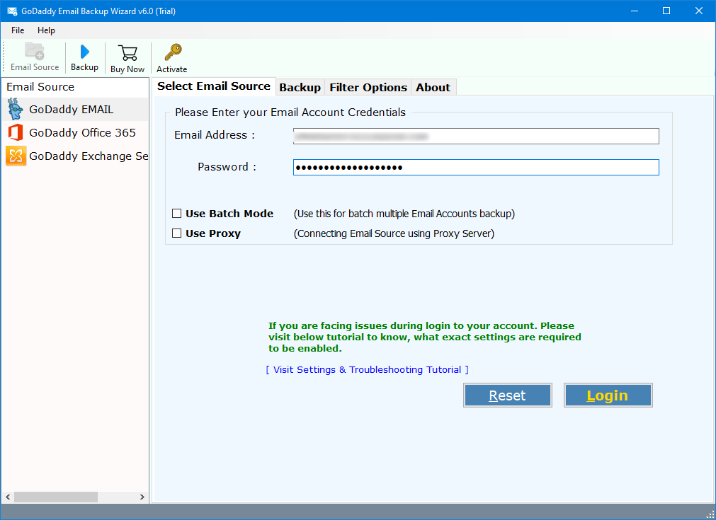 how to download emails from godaddy workspace