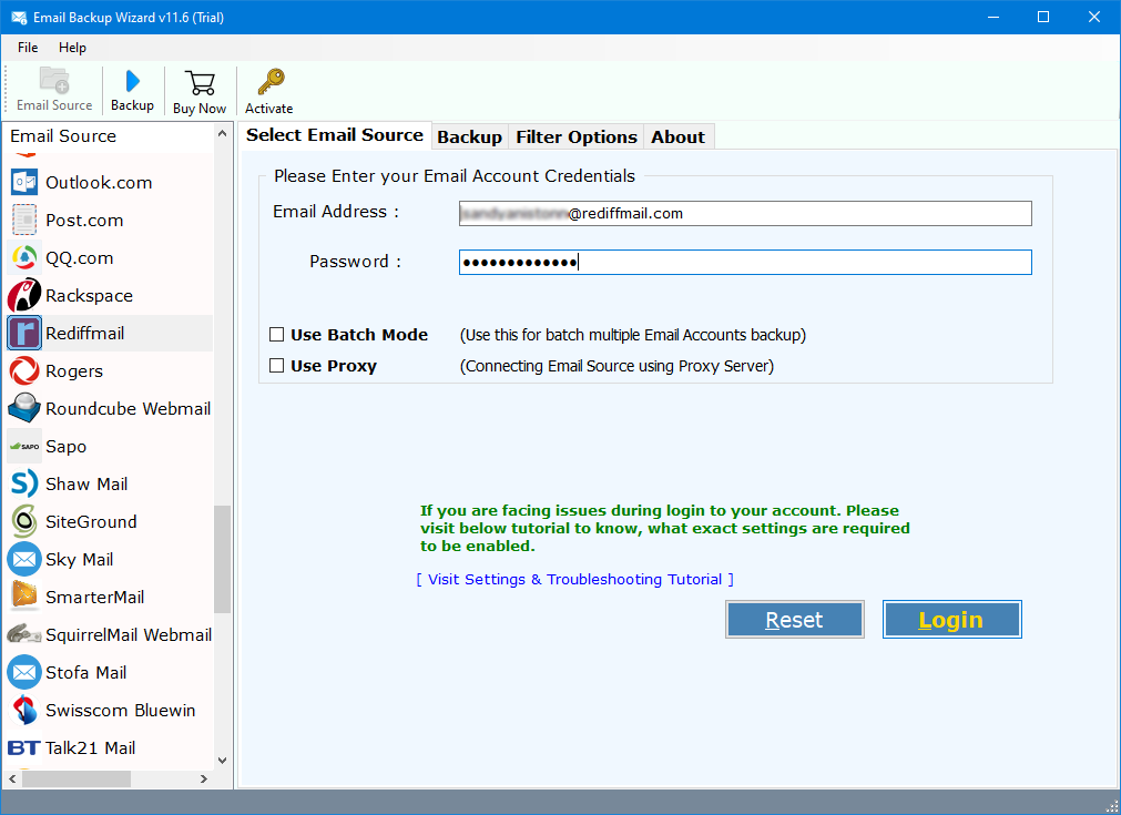 rediffmail forward to gmail