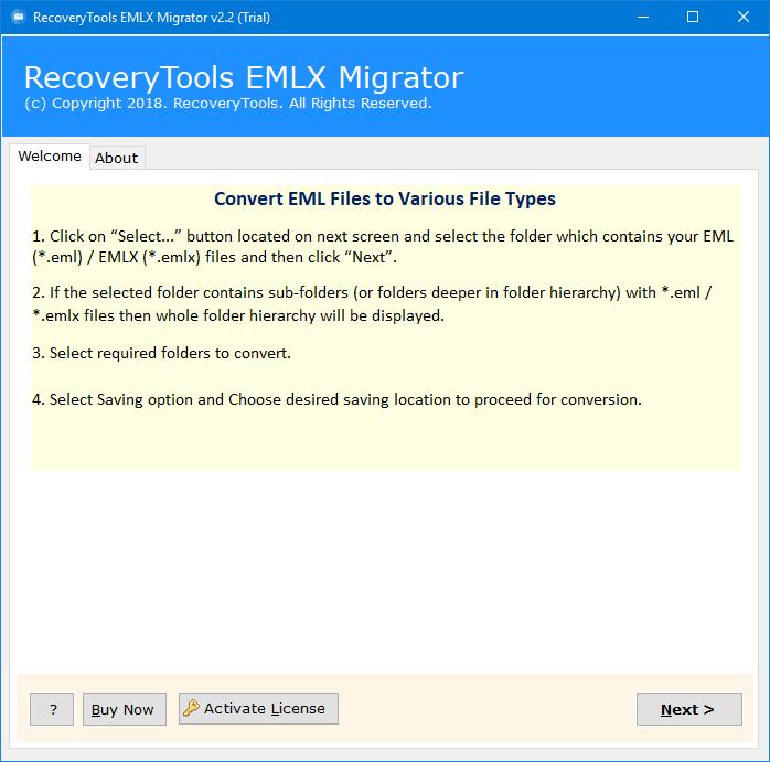 RecoveryTools EMLX to PST Converter