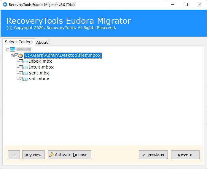 choose eudora emails to convert eudora to outlook