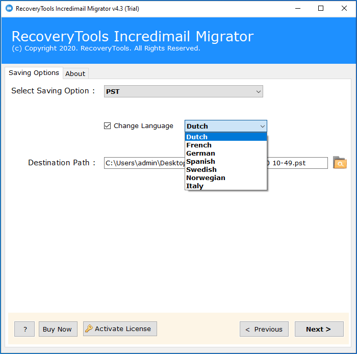 backup incredimail messages