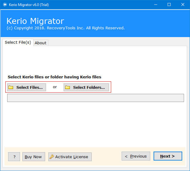 kerio mail export to pst
