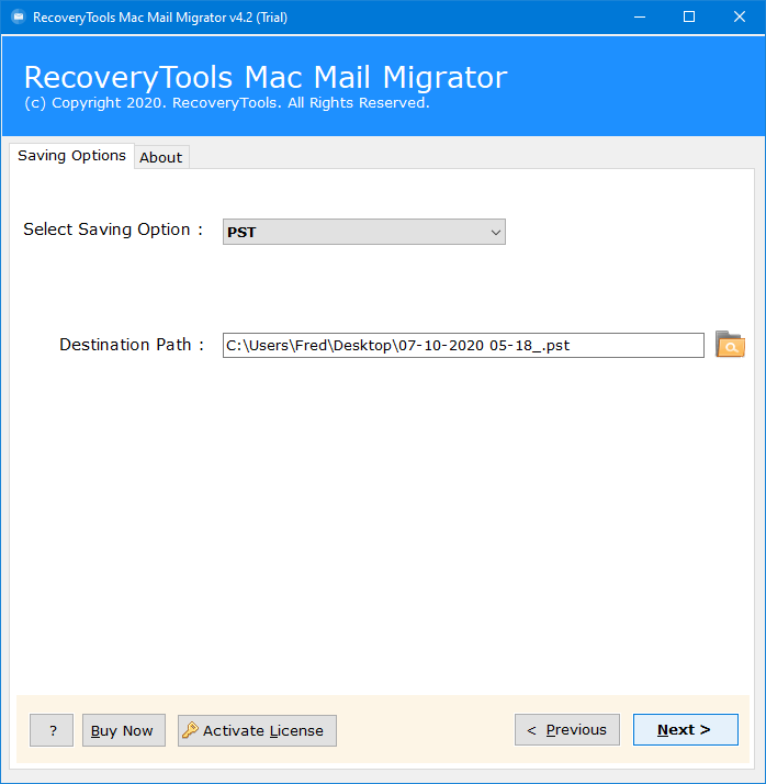 backup mac mail to pst