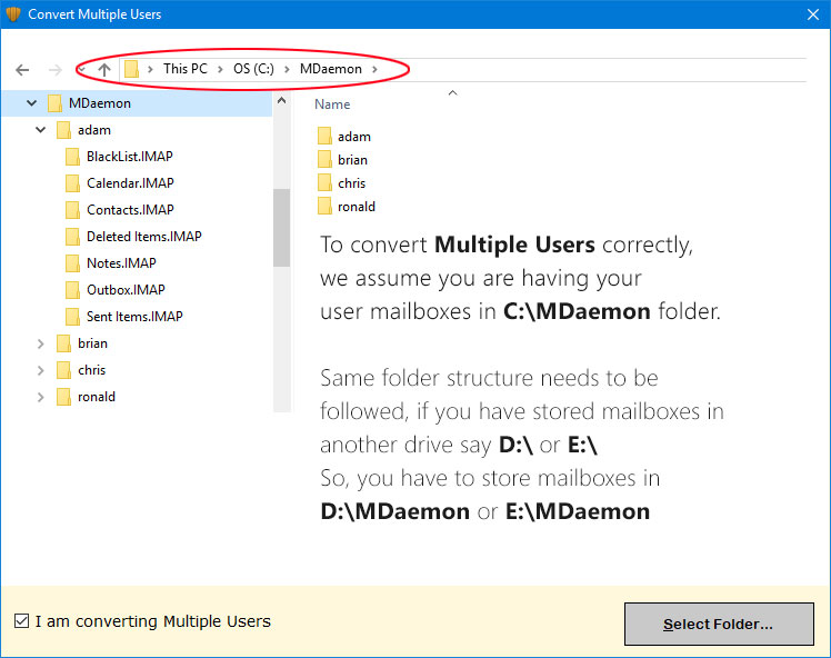 load multiple mdameon files