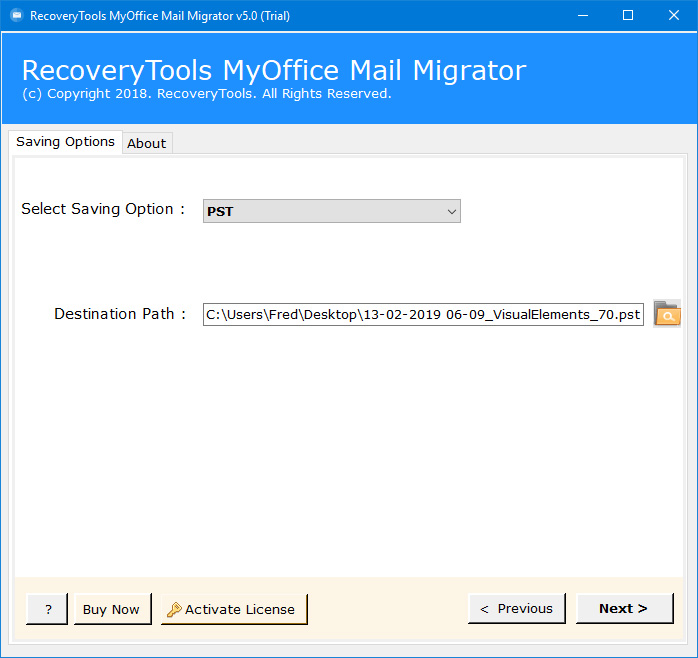 myoffice mail to pst