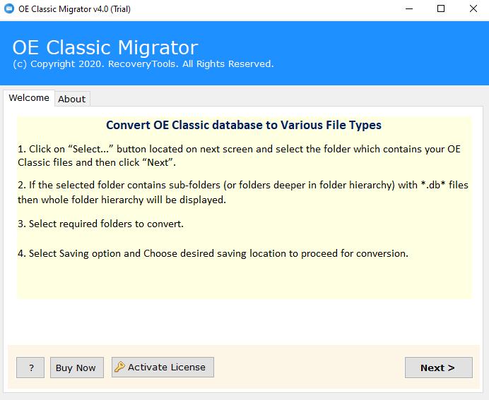 OE Classic migration tool