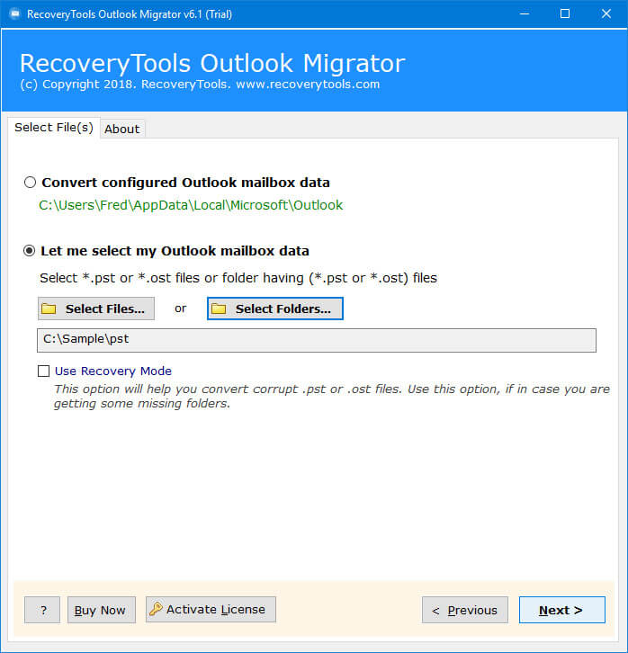 load outlook files