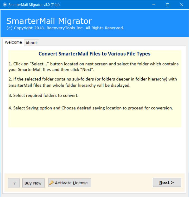 SmarterMail to Zimbra Converter – Export SmarterMail GRP